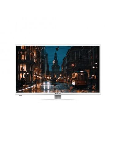 "TV LED 32"" HD DIGITALE TERRESTRE E SATELLITARE - DVB-T2 E DVB-S2 - BIANCO - BOLVA"